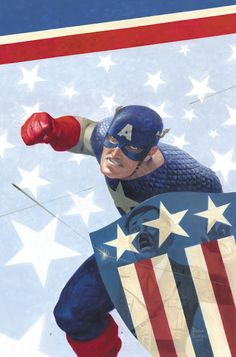 Painting Captain America by Paolo Rivera
