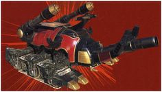 Crimson Insectizord has massive firepower, with two cannons mounted on its back, and with a horn that also servves as a cannon. Description from rangercentral.com. I searched for this on bing.com/images