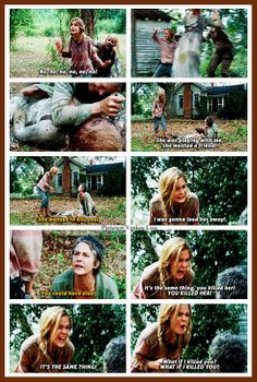 I was actually sad to see Lizzie die.  I kinda liked her but something did need to be done with her. :(