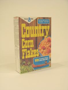 General Mills County Corn Flakes cereal box with Ojibwa canoe offer. Retro Recipes, Vintage Recipes, 1950s Recipes, Architecture Tattoo, Art And Architecture, General Mills Cereal, 1950s Food, Vintage Packaging, Corn Flakes