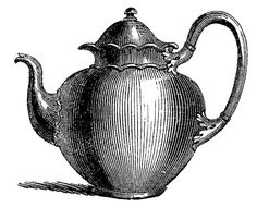 Royalty Free Images Antique Teapots - clip art for invitations
