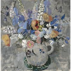 Anne Redpath, summer flowers