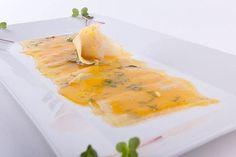 Tiradito de Corvina con Maracuyá (Sea Bass Tiradito with Passionfruit Sauce) - Hispanic Kitchen