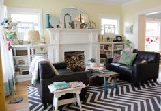 """kelly rae: Room Tour: Living room.  Love the feel of this room!   Kelly Rae said """"I deeply believe in creating home spaces that inspire us, that lift us up, that remind us of who we are and the life we've built. Beauty matters"""""""