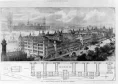 St Thomas' Hospital, London, home of the Nightingale Training School for nurses. Reproduced courtesy of the Florence Nightingale Museum. Hidden House, Old Hospital, Medical Pictures, Westminster Bridge, Florence Nightingale, London Architecture, Training School, Number Games, Medical History