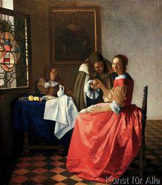 Jan Vermeer van Delft - Das Mädchen mit dem Weinglas