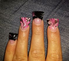 Flared french Nail design