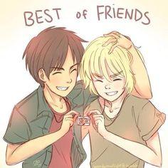 Armin and Eren <3 so cute