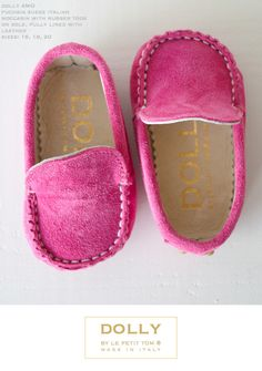 DOLLY by Le Petit Tom ® BABY MOCCASIN fuchsia