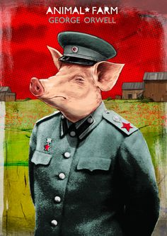 Animal Farm book cover || Ideas and inspiration for teaching GCSE English || www.gcse-english.com ||