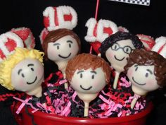 1-Direction Cake Pops for a lucky 13 year old!