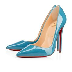 Christian Louboutin Singapore Official Online Boutique - So Kate 120 Celeste Patent available online. Discover more Women Shoes by Christian Louboutin Louboutin High Heels, Pumps Heels, Stiletto Heels, So Kate Louboutin, Blue High Heels, Christian Louboutin Outlet, Patent Shoes, Mode Inspiration, Me Too Shoes
