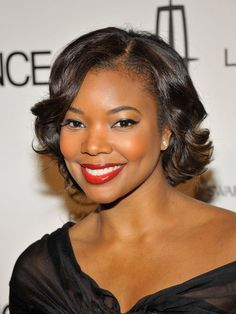 Gabrielle Union. With a little color, natural can be glamorous!