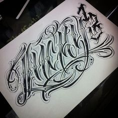"""Lucky 13"""" #script #letters #lettering #script #handstyles #graffiti #tattoo #ink #calligraphy #lucky #13 #lucky13 #type #typography #draw #drawing #sketch #art"""