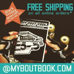 FREE SHIPPING till Nov 30th on individual orders in North America only. #blackfriday #freeshipping #rollerderby #myboutbook #getyours