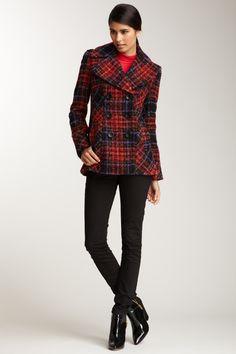 Pattern Knit Coat