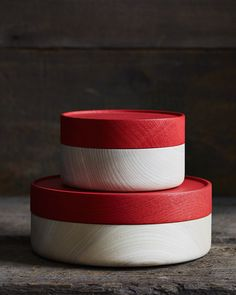 Hako Soji Wide Red Containers