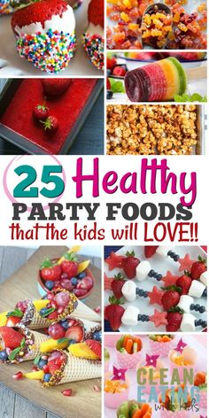 25 Healthy Birthday Party Food Ideas that the kids will LOVE! 25 Healthy Birthday Party Food Ideas that the kids will LOVE! 25 Healthy Birthday Party Food Ideas that the kids will LOVE! Toddler Birthday Foods, Healthy Birthday Snacks, Kinder Party Snacks, Healthy Kids Party Food, Kids Birthday Snacks, Easy Party Food, Birthday Breakfast, Birthday Brunch, Snacks Für Party
