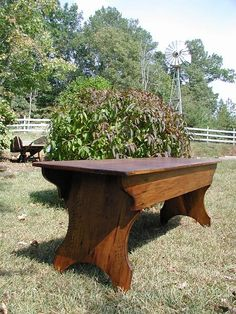Straight Bench  This piece is Amish made.