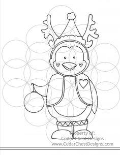 Cedar Chest Designs, Digital Crafts - Penguin Reindeer, $3.00 (http://www.cedarchestdesigns.com/penguin-reindeer/)