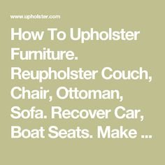 do it yourself how to recover a vinyl boat seat vinyls boat seats and boats. Black Bedroom Furniture Sets. Home Design Ideas