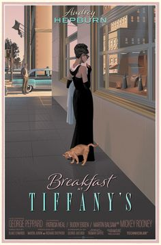 Breakfast At Tiffany's Print By Laurent Durieux |