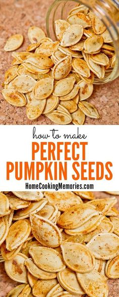 Low Unwanted Fat Cooking For Weightloss Don't Throw Those Pumpkin Seeds Away After Carving Your Halloween Jack-O-Lantern Roast Perfect Pumpkin Seeds This Post Shares How You Can Make A Deliciously Healthy Batch Of This Salty And Crunchy Snack. Perfect Pumpkin Seeds, Clean Eating, Healthy Snacks, Healthy Recipes, Dinner Healthy, Vegan Snacks, Stay Healthy, Delicious Recipes, Vegetarian Sweets
