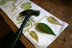 Hammering: Natural Fabric Dye : 11 Steps (with Pictures) - Instructables Fabric Painting, Fabric Art, Fabric Crafts, Vinyl Fabric, How To Dye Fabric, Cool Fabric, Dyeing Fabric, Natural Dye Fabric, Natural Dyeing