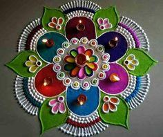Easy Rangoli Designs Videos, Easy Rangoli Designs Diwali, Simple Rangoli Designs Images, Rangoli Ideas, Beautiful Rangoli Designs, Rangoli Designs Peacock, Indian Rangoli Designs, Rangoli Designs Latest, Colorful Rangoli Designs