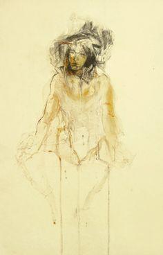 "Saatchi Art Artist Ute Rathmann; Drawing, ""Hommage à Beardsley XVIII"" #art"