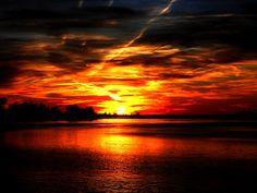 Sunset on Delaware River