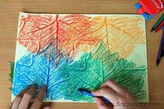 For an activity, we can do leaf rubbings and people can write messages to Luna on them! - leaf rubbings a nice craft for my Daisies to do. Autumn Crafts, Fall Crafts For Kids, Autumn Art, Nature Crafts, Holiday Crafts, Fun Crafts, Art For Kids, Camping Crafts, Autumn Activities