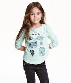 Printed Jersey Top | Mint green/WWF | Kids | H&M US