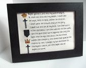 Game of Thrones Oath of the Nights Watch Framed by GoramStitches