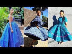 2019 STYLISHLY #SHWESHWE DESIGNS FOR WOMEN: 60 MOST POPULAR, EXOTIC & BEAUTIFUL #SHWESHWE DRESSES - YouTube African Dresses For Women, African Women, Shweshwe Dresses, People Videos, Power Dressing, Most Popular, Traditional Dresses, Handmade Art, Exotic