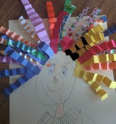 "These are adorable and kids will love making this ""wild about..."" art project.  Great way to use up paper scraps, too!"