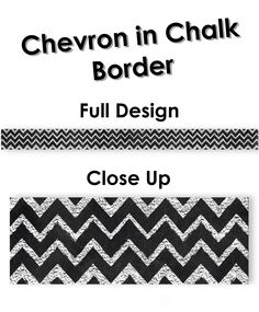 This Chevron in Chalk Border is the perfect accent to any chalkboard themed classroom... or for the chevron lover!