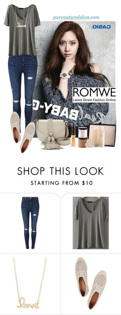 """Grey T-shirt"" by purenaturaldiva ❤ liked on Polyvore featuring Miss Selfridge, Sydney Evan, Rebecca Minkoff, naturalbeauty, organicbeauty and purenaturaldiva"