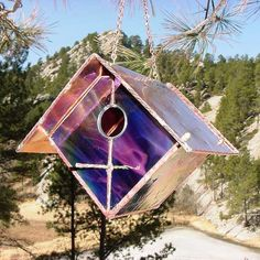 Stunning stained glass & copper birdhouses and feeders in limited quantity colors. Handcrafted in the USA, hanging houses and feeders will not fade or discolor. Quality construction, perfect for wrens