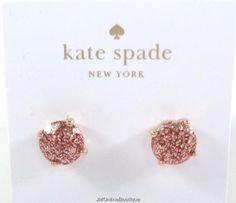 Kate Spade Rosegold Glitter Gum Drop Studs Earrings With Dust Bag Ebay