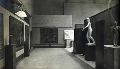 Room shot of 1913 Armory show at the Art Institute.  A few paintings by Robert W Chanler can be seen.