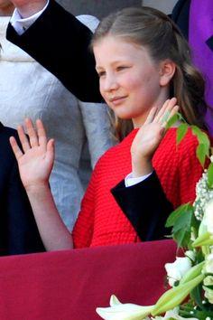 21 juillet 2013 la futur princesse héritière Élisabeth