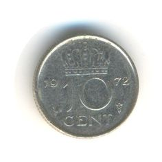 Netherlands 10 Cent 1972 Vintage Coin by JMCVintagecards on Etsy Rare Coin Values, Postcards For Sale, Coins For Sale, Rare Coins, Netherlands, Mall, Coding, Etsy Shop, Money