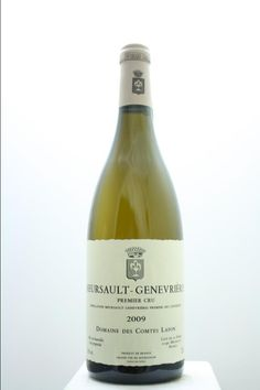 Domaine Des Comtes Lafon Meursault Genevriéres 2009. France, Burgundy, Meursault, Premier Cru. 4 Bottles á 0,75l. Price realized (9/2016): 960 USD (240 USD/Bottle).