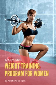 Workouts for women have traditionally been cardio-orientated, but now more and more women are heading towards the weight section. Check out this simple weight training program for women to help get you started - QandA Fitness - #workout #fitness #exercise #WorkoutsForWomen