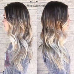 18 Brown to Blonde Ombre Long Hairstyles Dark Roots Blond Pastel, Brown To Blonde Ombre, Ash Blonde, Blonde Highlights, Dark Brown To Blonde Balayage, Blonde Hair Tips, Ombre Hair Color, Hair Color Balayage, Thighs