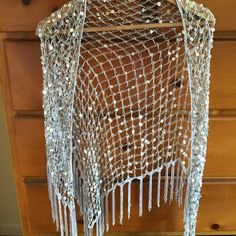 Sequin shawl Silver fun sequin shawl Other