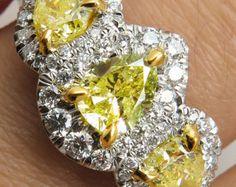 3.71ct Estate Vintage Cushion Diamond Engagement by DiamondViolet