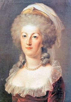 A portrait of queen Marie Antoinette in 1791, age 35 Two years before her death