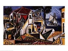 Mediterranean Landscape Art Print for sale. Shop your favorite Pablo Picasso Mediterranean Landscape Art Print without breaking your banks. Pablo Picasso, Kunst Picasso, Art Picasso, Picasso Paintings, Art Paintings, Picasso Drawing, Paintings Online, Abstract Paintings, Watercolor Paintings